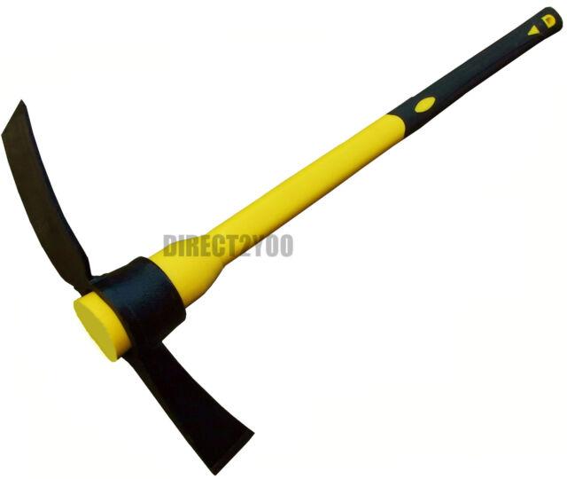 5lb Grubbing Mattock Steel Head +Fibreglass Handle shaft 90cm 36in Heavy Duty