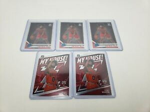 Lot-Of-5-Donruss-Optic-Coby-White-Rookie-Cards-Holo-Silver-RR-My-House