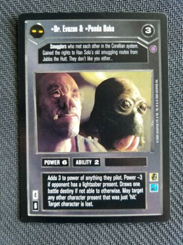 Dr Star Wars CCG Reflections II Evazan /& Ponda Baba