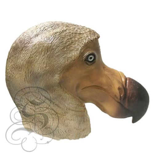 Latex Animal Realistic Brown Dodo Bird Cosplay Fancy Dress Carnival Mask NEW