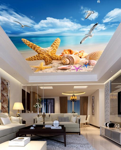 3D Beach Shells 5 Ceiling WandPapier Murals Wand Drucken Decal Deco AJ WandPapier UK