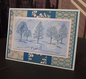"""Stampin Up Lovely as a Tree """"NOEL"""" Christmas/ Holiday Handmade Card"""