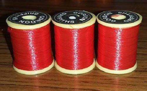 Gordon Griffiths Fluorescent Red Nylon Floss 25 Yard Spool