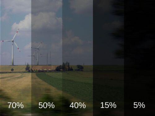 Light Black 50/% HQ Tinting Film For Car Window 6m x 50cm Tint Film