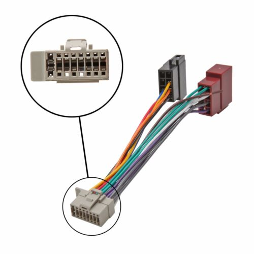 Arnés De Cableado Adaptador ISO Stereo Radio Cable Conector Telar Panasonic 16 Pin