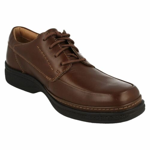 Kett Details about  /Clarks Stonehill Pace Mens Brown Leather Lace-up Shoe Wide H Fitting MR