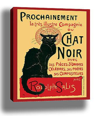CHAT NOIR VINTAGE CAT QUALITY CANVAS POSTER PRINT STEINLEN CHOOSE SIZE/FRAME
