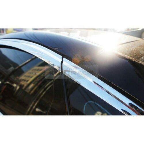 Chrome Window Visor Rain Sun Guards 6P D609 For HYUNDAI 2014-2016 Genesis