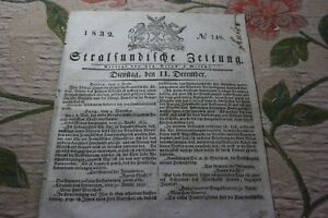 1832 Stralsund Journal 148/-afficher Le Titre D'origine
