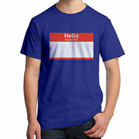 Hello My Name Is T-shirt Name Tag You Can Write Your Own Name On It 1655