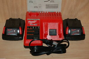 Brand-New-Milwaukee-M12-amp-M18-Dual-Charger-plus-2-new-M18-Batteries-48-11-1815