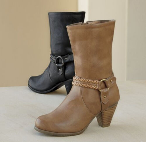 NEW WOMENS TAN CAPRICE SOUTHWEST HALF BOOTS by ANDIAMO SIZE 6.5 M