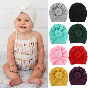 1b12de79353 New Toddler Kids Baby Boy Girls Indian Turban Knot Cotton Beanie Hat ...