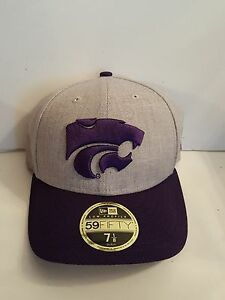 outlet store 5e1dd 97edf Image is loading Kansas-State-Wildcats-New-Era-59-Fifty-Low-