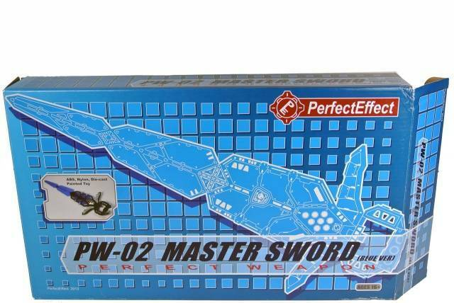 TRANSFORMERS Perfect Effect PW-02 Master Sword Perfect Weapon blueE 17.9 inches