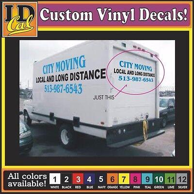 Custom Vinyl Truck Lettering Large Box Van Trailer Semi