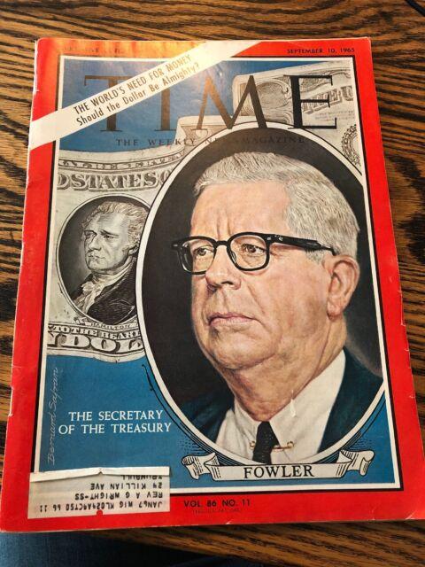 Vintage Time Magazine - September 10, 1965 - The Secretary Of The Treasury