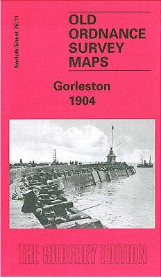 OLD ORDNANCE SURVEY MAP GORLESTON 1904 SCHOOL LANE CLARENCE ROAD THE POINT