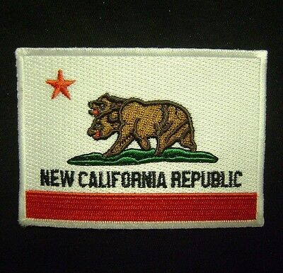 NEW CALIFORNIA REPUBLIC FLAG FALLOUT COSPLAY VELCRO® BRAND FASTENER PATCH