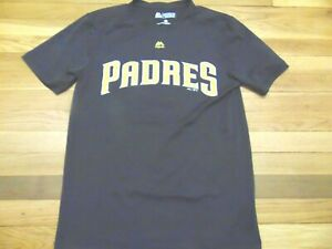 timeless design 67253 ae371 Details about MAJESTIC MLB SAN DIEGO PADRES JERSEY EVOLUTION T-SHIRT SIZE S