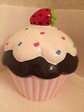 Target Ceramic Cupcake Piggy Bank Chocolate Sprinkles Strawberry Decorative