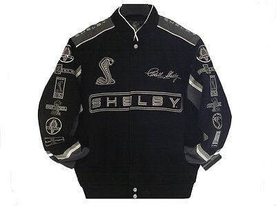 2017  Authentic Caroll Shelby Cobra Cotton Jacket JH Design Black Gray New
