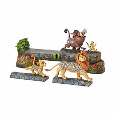 Jim Shore Disney Traditions Simba Timon & Pumba On Log Lion King 4057955 3 pc