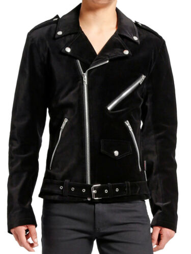 Men Motorcycle Gothic Military Jacket Goth Band RIP Moto Biker Punk Coat Jacket