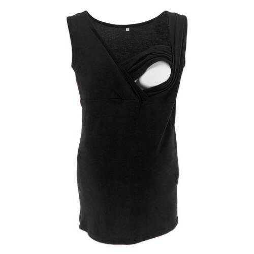 Damen Stillshirt Umstandsmode Shirt Stilltop Stillbluse Tank Top Unterhemd Bluse