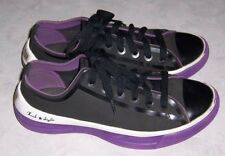 4c039c3f01eca3 CONVERSE All Star Chuck Taylor Womens Size 5 Black Purple Sneakers Lace Up  Shoes