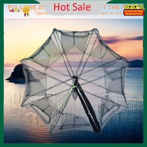 Foldable-Crab-Shrimp-Fishes-Crawfish-Net-Fishing-Trap-Cast-Dip-Cage-Green