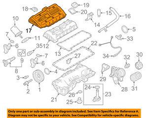 details about bmw oem 11 12 x3 3 0l l6 engine trim cover 11127584636 V4 Engine Diagram