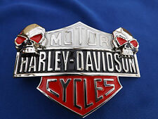 Biker Harley Belt Buckle metal and enamel