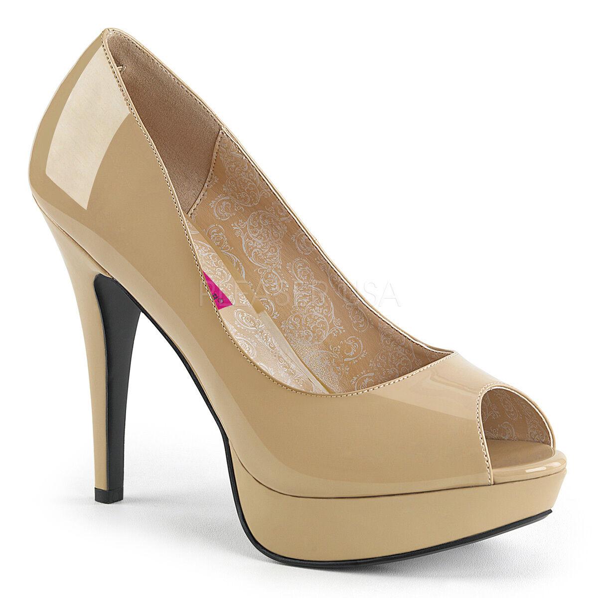 PLEASER Sexy 5 5 5 1 4  High Heel Concealed Platform Cream Pump schuhe Large GrößeS 45e3e1