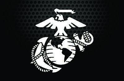 U.S Eagle Globe and Anchor 2 PACK Marine Veteran Bumper Sticker