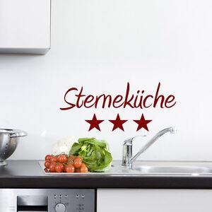 Wandtattoo Sternekuche Kitchen Schriftzug Sterne Kuche Essen 178