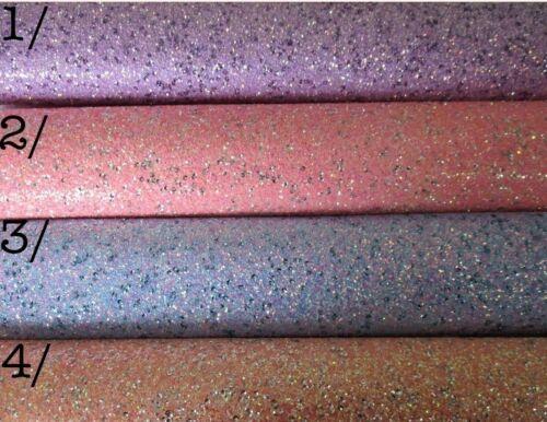 * Nuevo Gruesa Tela BRILLO LENTEJUELAS A4 de los 9 Colores para Elegir Arcos//clips//Crafts