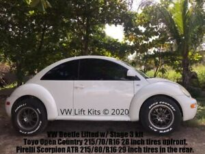 Lift Kit for VW Beetle MK4 Bilstein Stage 3 Suspension Rally Skid Plate Baja
