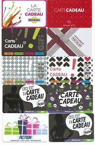 CARTES CADEAUX NEUVES 0-40 EURO PIECE BIEN LIRE LE TEXTE DE L'ANNONCE fJE6aQbw-09154802-697696629