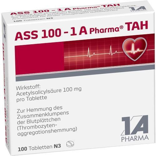 ASS 100 1A Pharma TAH Tabletten  100St 6312077