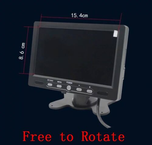 """7/"""" TFT LCD Color 4 Split Quad Display 4 Video Input Car Rearview Monitor 800X480"""