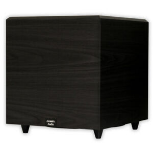 Acoustic-Audio-PSW12-Home-Theater-Powered-12-034-Subwoofer-Black-Down-Firing-Sub