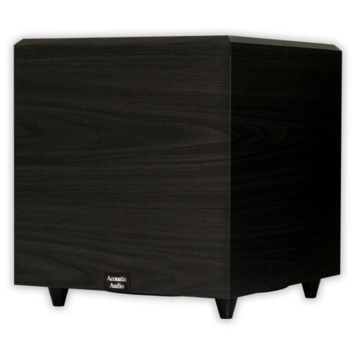 """Acoustic Audio PSW12 Home Theater Powered 12/"""" Subwoofer Black Down Firing Sub"""