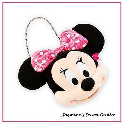 AUTHENTIC DISNEY MINNIE MOUSE PINK PLUSH PURSE BRAND NEW WITH TAG