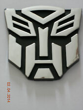 "TRANSFORMER IRON MASK AUTOBOT EMBLEM LOGO STICKER  PLASTIC DECAL 3 3/4"" X 3 3/4"""