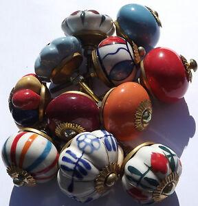Porcelain ceramic cupboard china door knobs 12 types Glass doorknobs ...