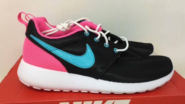 081415de2853 Buy Nike Roshe Run Black Blu Pink Girls Athletic Running Size 6.5 ...