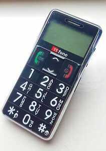 TTfone TT099 Téléphone Portable Débloqué Gros Boutons SOS Bouton Grand Ecran Noir