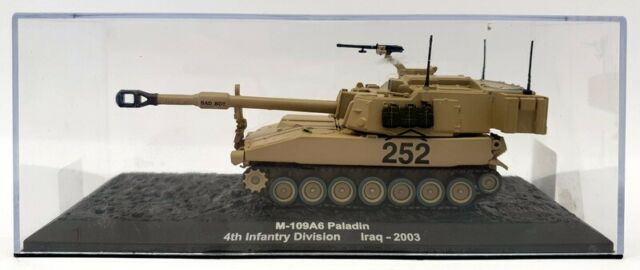 Altaya 1/72 Scale A3520D - M109A6 Paladin Self Propelled Howitzer - Iraq 2003