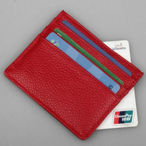 Business Men Slim Wallet Money Clip PU Leather Cash ID Credit Card Holder New